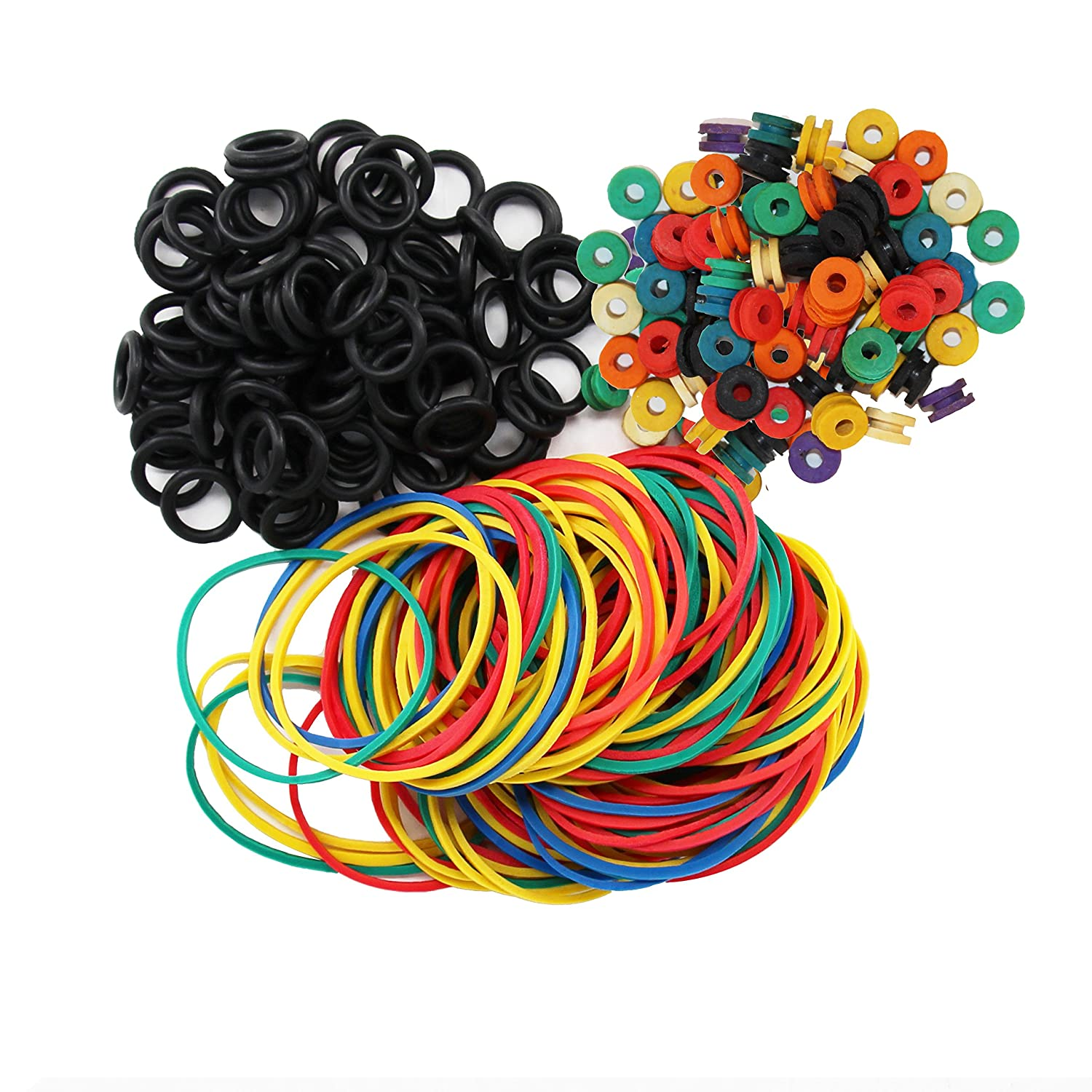 ITATOO Tattoo Grommets, O Ring's and Rubber Bands 300 Pcs N201022+64A+65