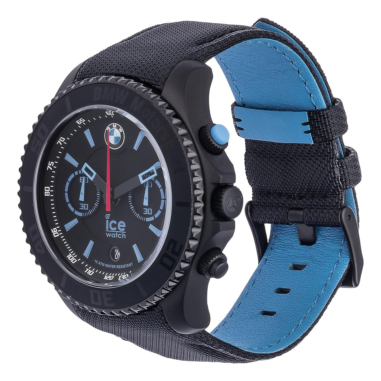 Ice-Watch - BMW Motorsport (steel) Black - Montre noire pour homme avec bracelet en cuir - Chrono - 001123 (Extra large): Amazon.fr: Montres