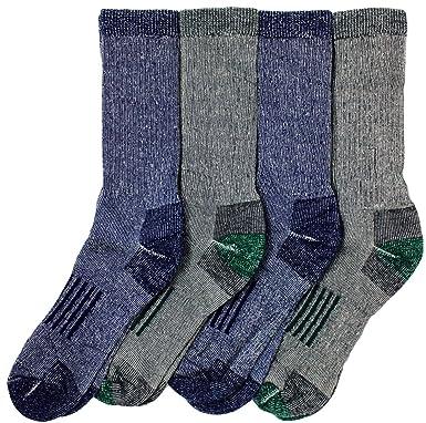 9f29ae2c71 Kirkland Signature Mens Outdoor Trail Socks Merino Wool 4 Pairs: Amazon.ca:  Sports & Outdoors