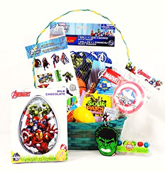 Amazon marvel avengers easter candy toy gift basket with marvel avengers easter candy toy gift basket with iron man hulk captain america negle Images