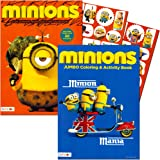 Minions Coloring and Activity Book Set with Stickers (2 Books)