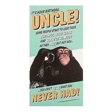 Amazon Uncle Hallmark Humour Funny Birthday Card Monkey