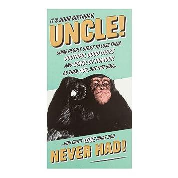 Hallmark Uncle Birthday Card Monkey