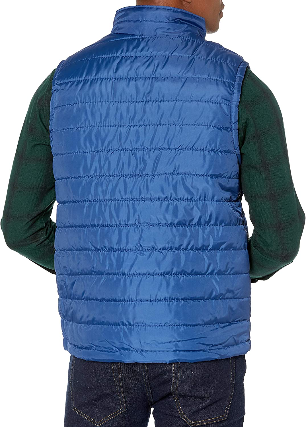 Izod Mens Lightweight Quilted Puffer Vest Fleece