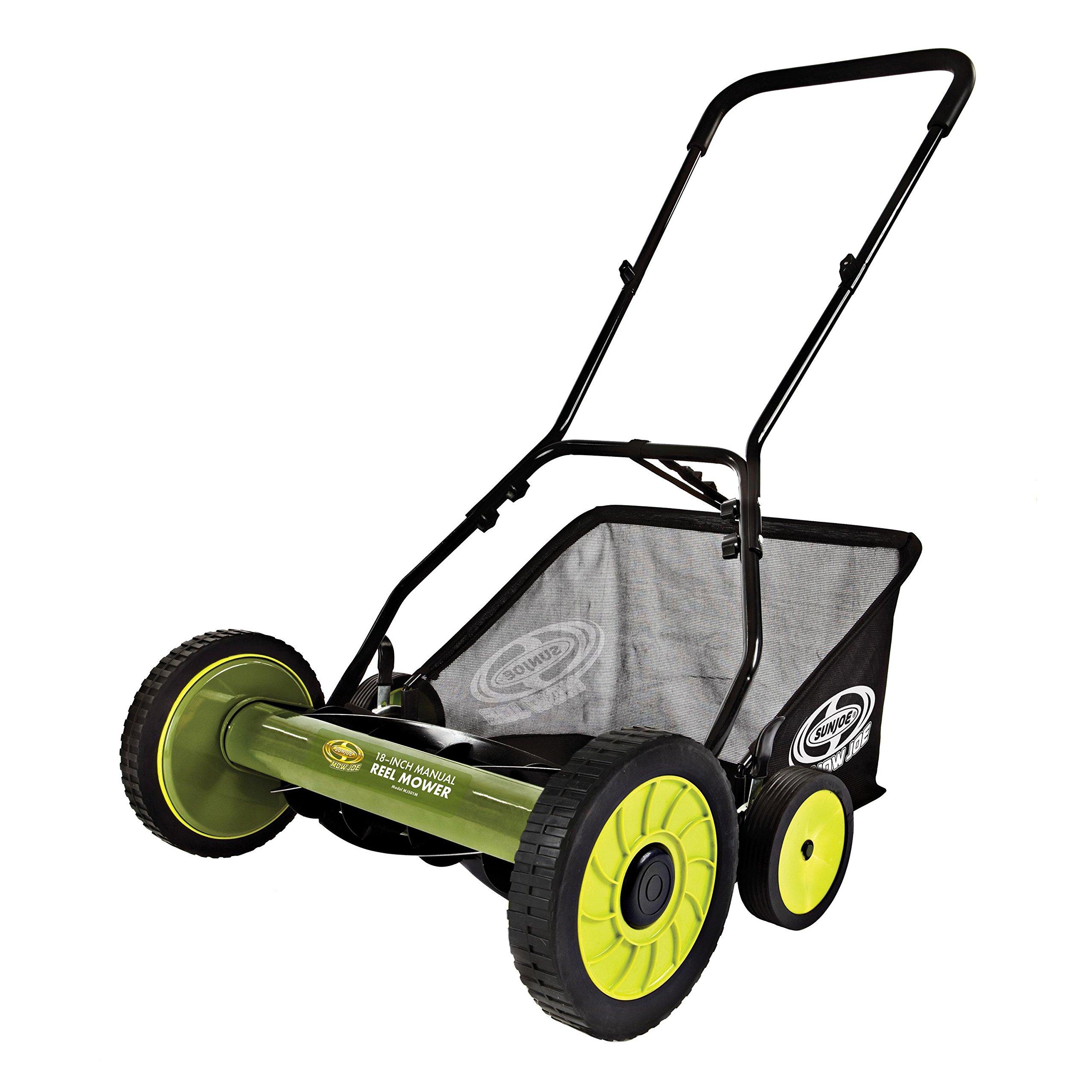 Sun Joe MJ501M-RM Mow Joe 18'' Manual Reel Mower with Catcher (Certified Refurbished)