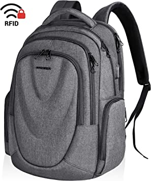 KROSER Laptop Backpack 17.3 Inch Computer Daypack Water-Repellent Bag With USB