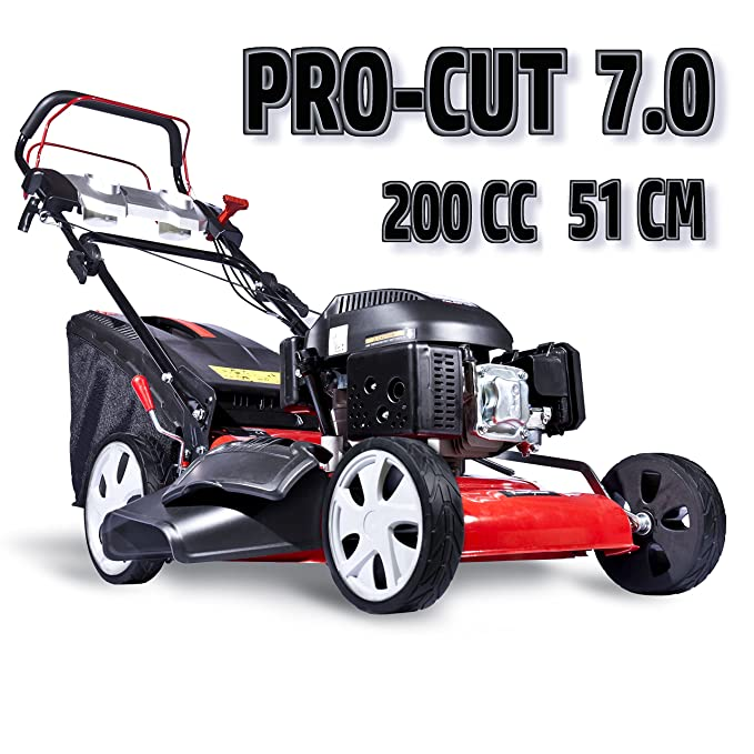 Cortacesped POWERGROUND PRO-CUT 7.0 de gasolina: Amazon.es ...