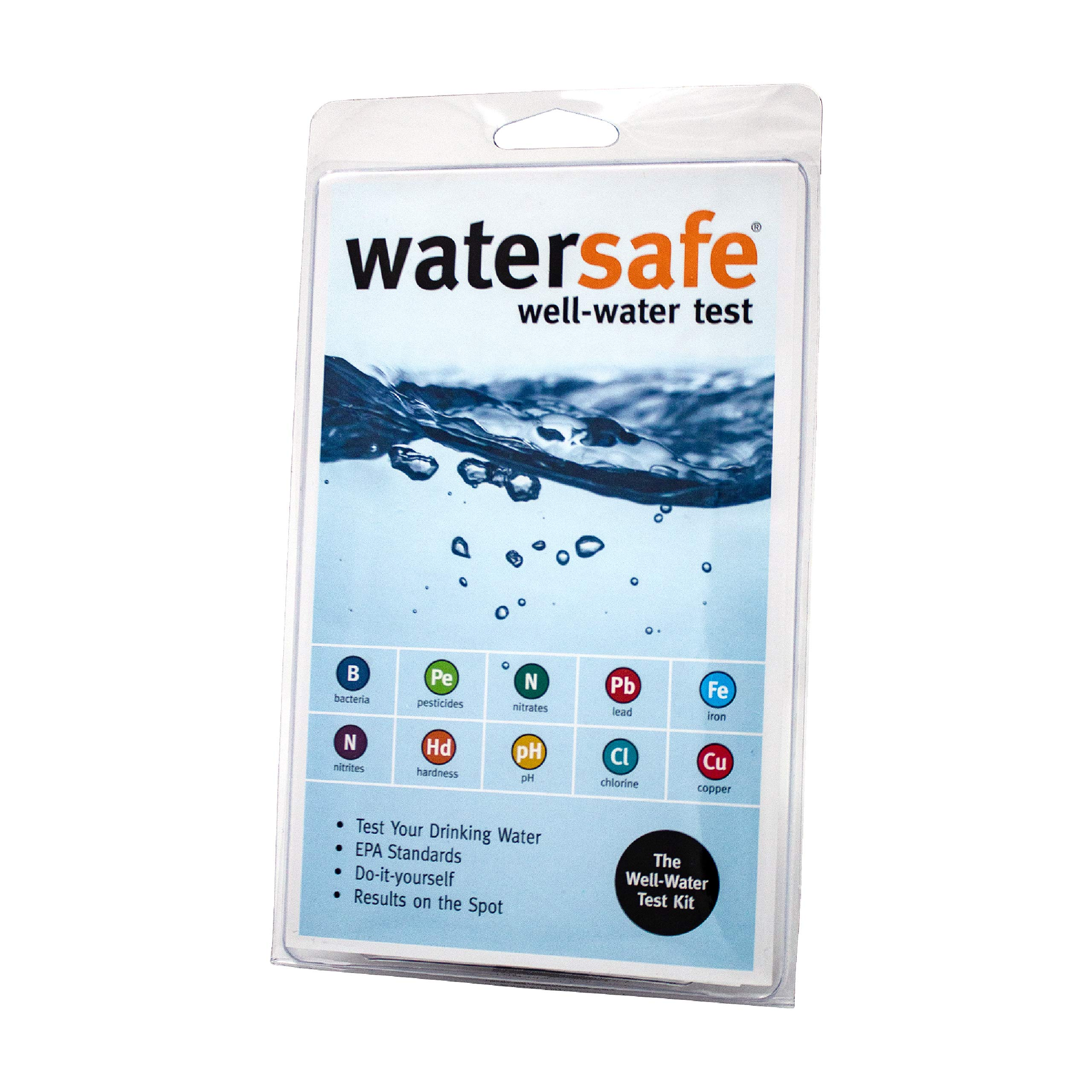 WaterSafe Well Water Test Kit - for Drinking Water in Home Tap and Well Water | Simple Testing Strips for Lead, Copper, Bacteria, Nitrate, Chlorine, and more | Made in the USA to EPA Standards by Watersafe