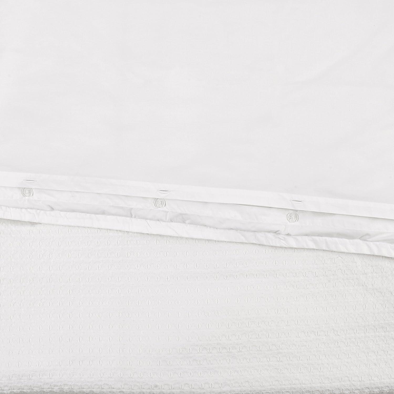 104 x 90 Stone /& Beam 100/% Cotton Soft Waffle Texture Transitional Gemma Duvet Cover Set White King
