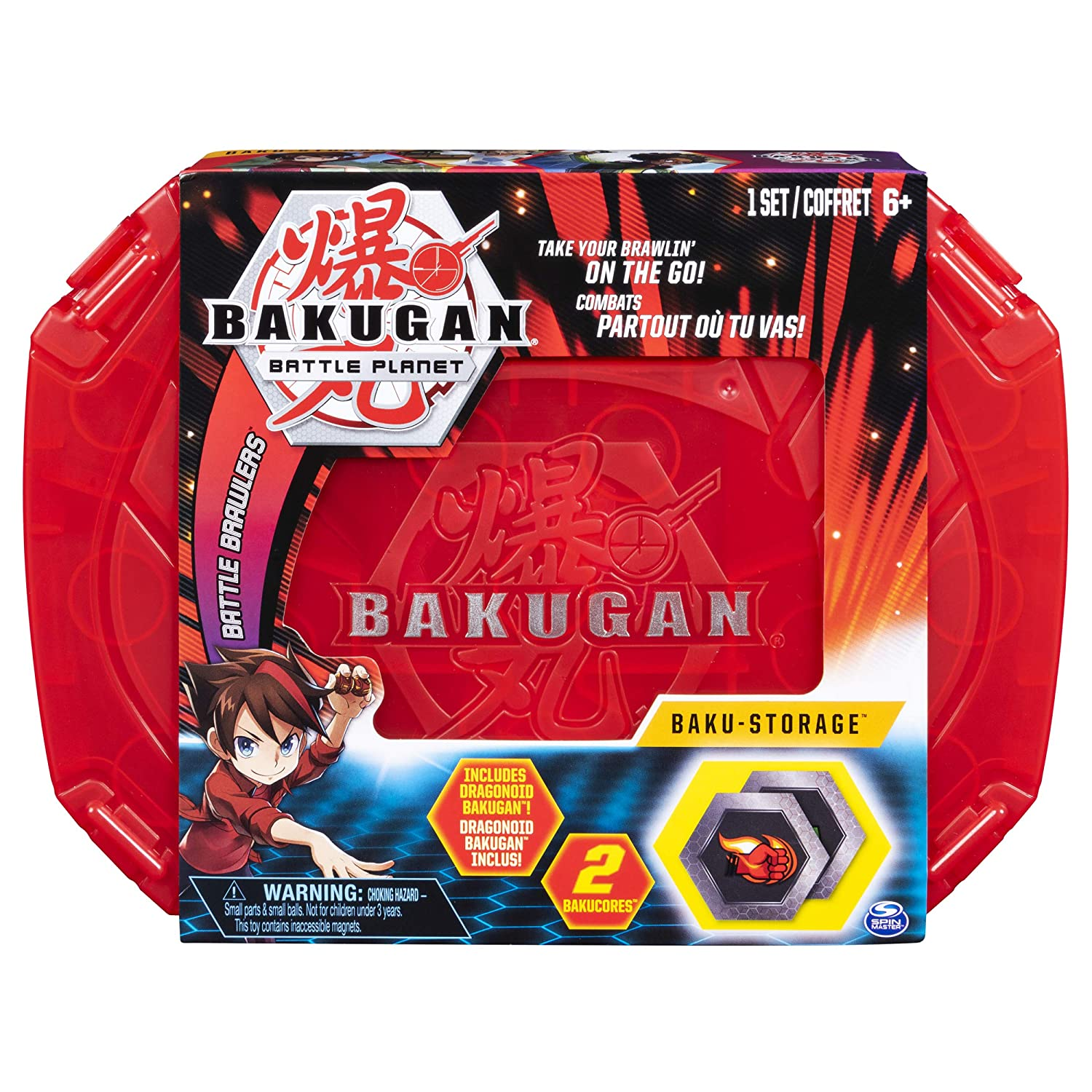 Bakugan, Baku-Storage Case (Red) Collectible Creatures, for Ages 6 and Up