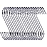 30 Pack S Shaped Hanging Hooks 3.5 Hangers for Kitchen Bathroom Bedroom and Office