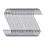D-buy 40Pack Heavy Duty S Hooks Stainless Steel S