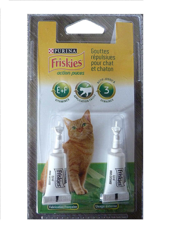 Purina - anti-puces chat - Gouttes répulsives pour chat et chaton - 2x0.6ml - actif 3 semaines