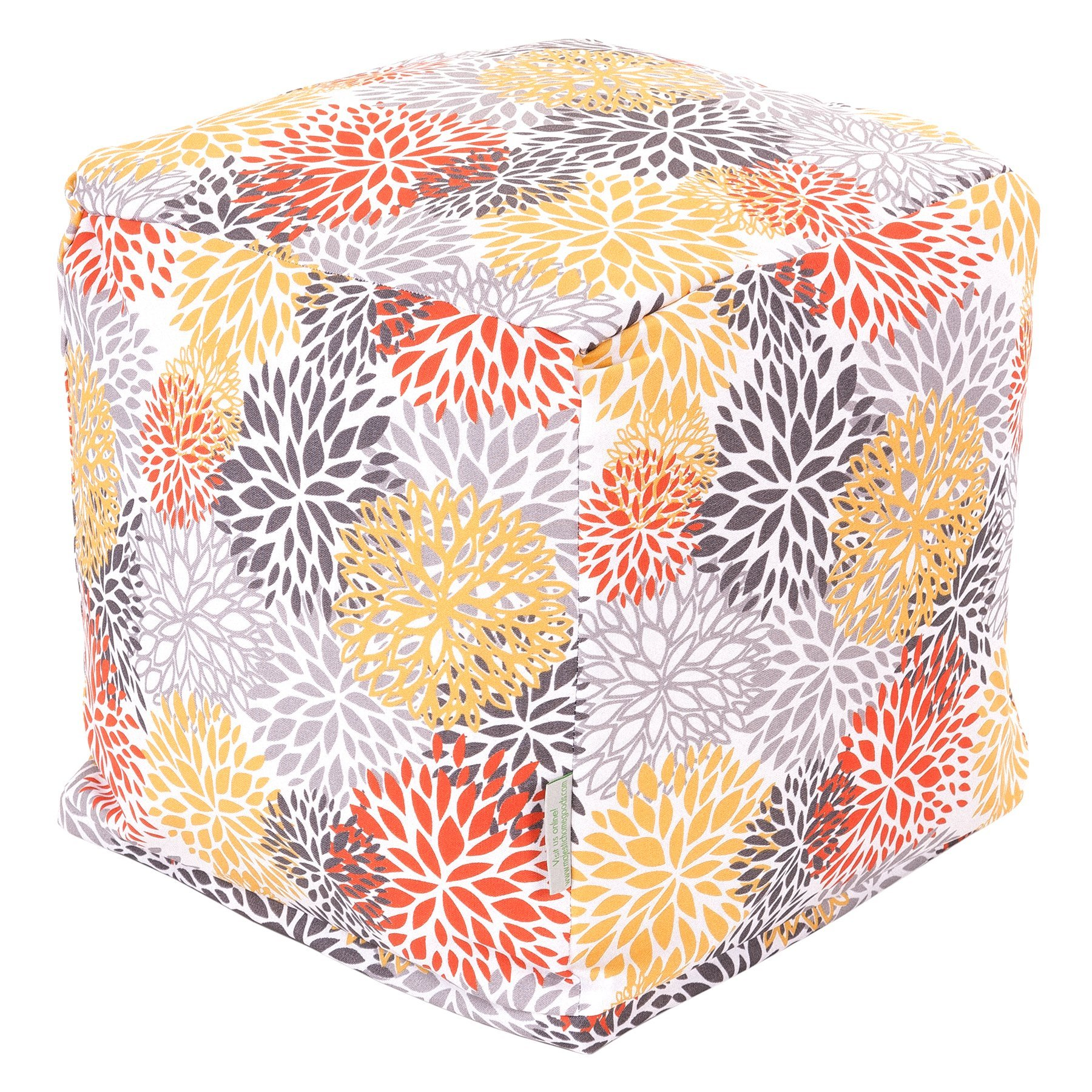 Majestic Home Goods Blooms Cube, Small, Citrus