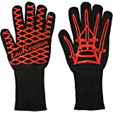 LauKingdom BBQ Grilling Cooking Glove 932°F Extreme Heat Resistant Oven Mitts & BBQ Accessories