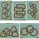 31 Vintaj Decorative Jump Rings Mix, Roped, Twisted, Triangle, Rectangle, Large, Small Jump Rings