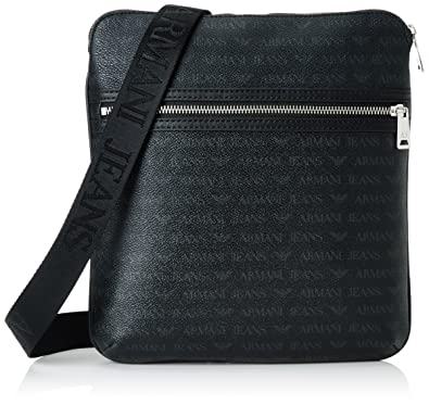 9e9b8ec30490 Armani Jeans Men s 932533CC996 Shoulder Bag Black Schwarz (Nero 00020)  28x4x27 cm