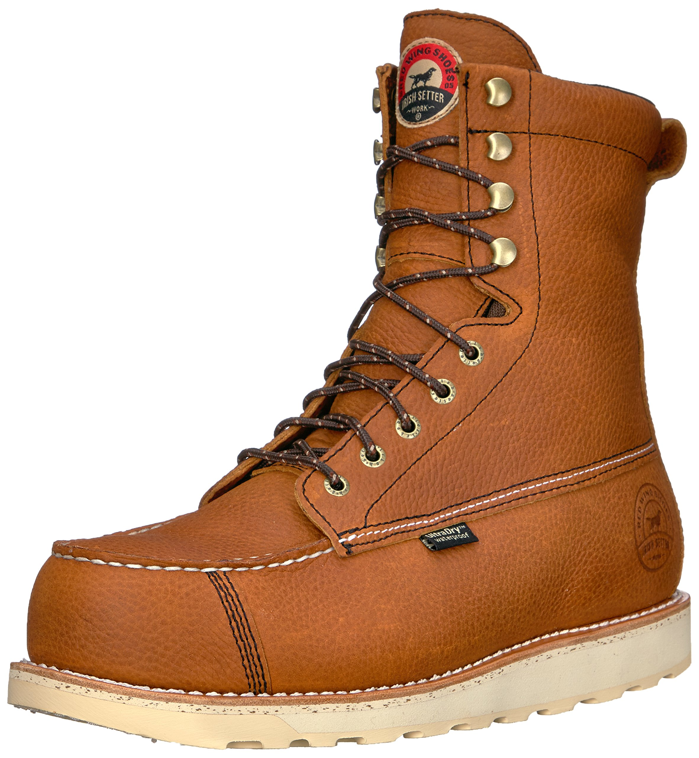 Irish Setter Men's Wingshooter Safety Toe 8'' Work Boot, Brown, 10 D US by Irish Setter