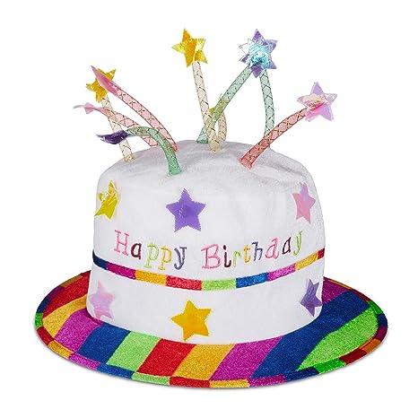 Relaxdays Unisex - Sombrero de cumpleaños para Adultos Happy ...