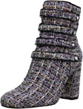 The Fix Women's Sadie Military Style 4 Strap Jewel Buttons Ankle Boot