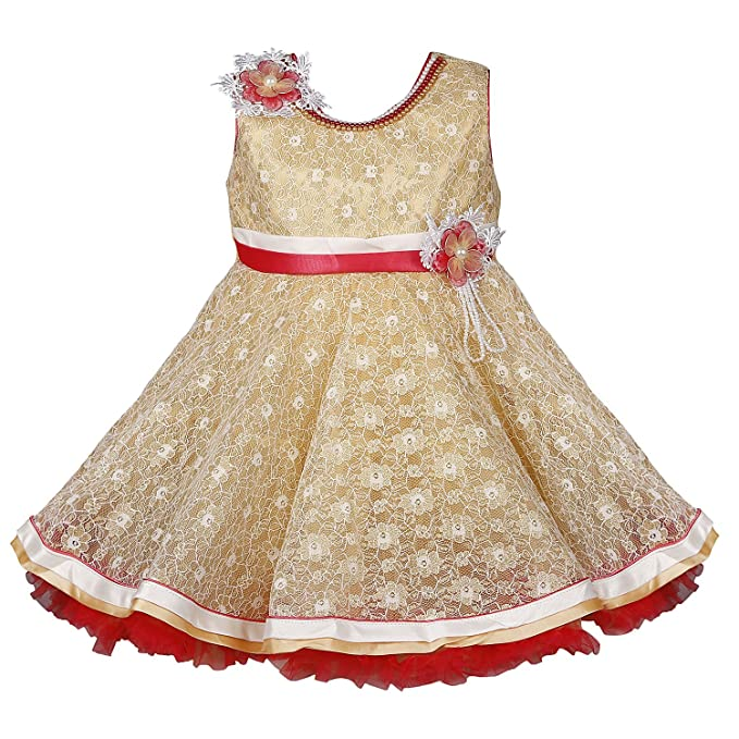 a5a25d7a6 Wish Karo Baby Girls Net Party Wear Frock Dress - (bxa23)  Amazon.in ...