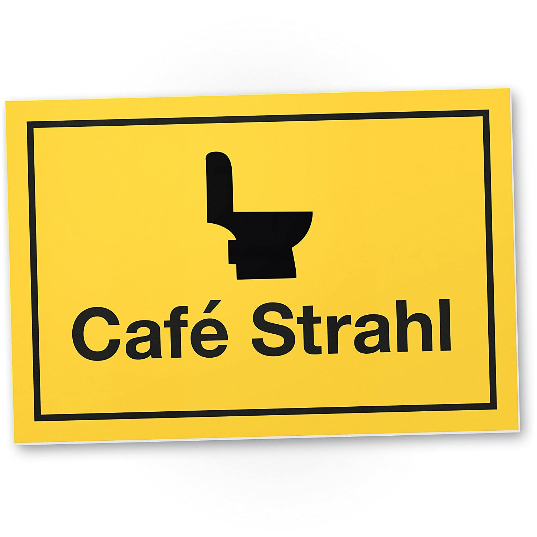 dankedir. Café Inyección, divertido WC Cartel de plástico ...
