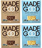 Made Good Organic Crispy Squares Variety Pack of 4 – Vanilla and Chocolate Chip Crispy Squares - Tree-Nut and Peanut…