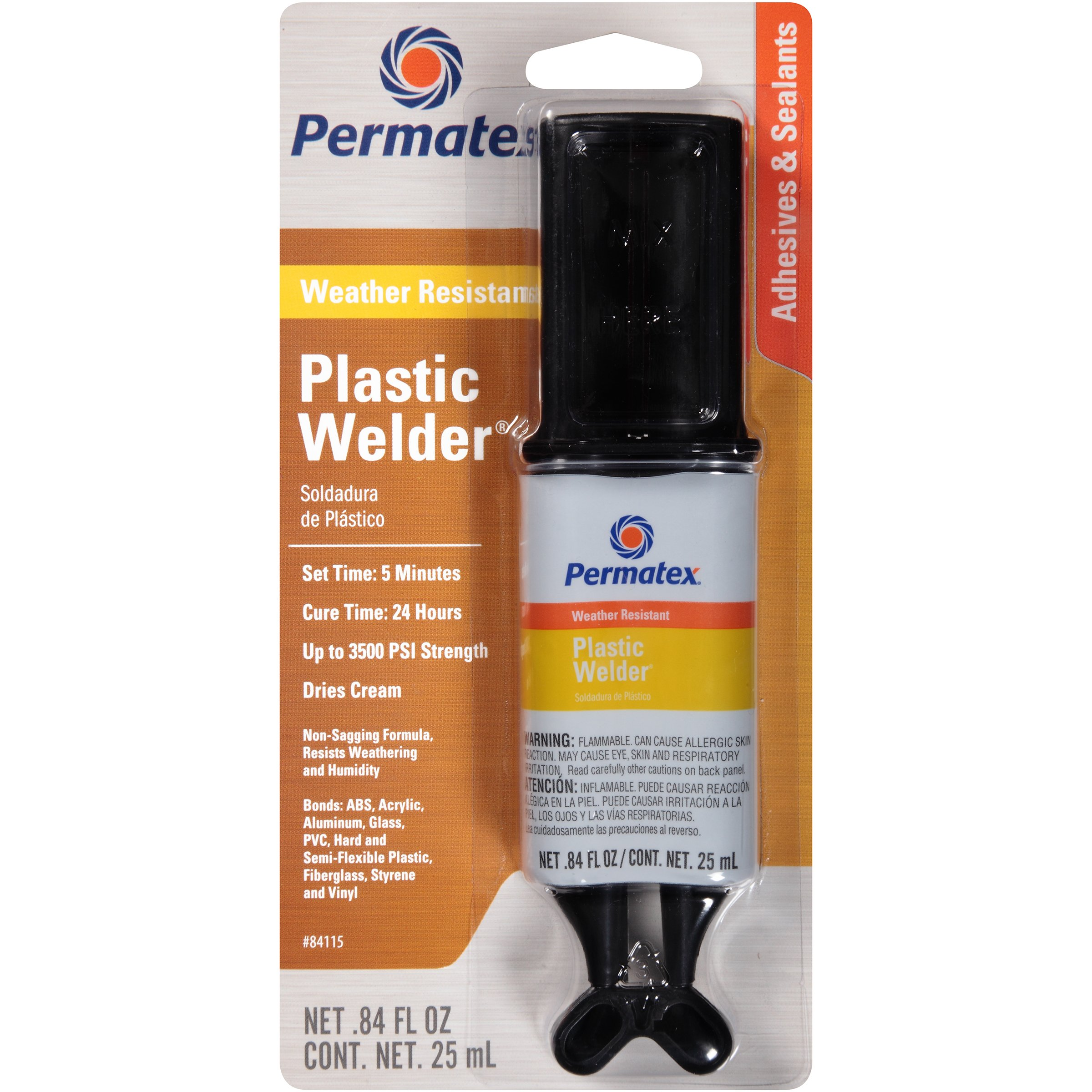 Permatex 84115-12PK PermaPoxy 5 Minute Plastic Weld, 0.84 oz. (Pack of 12)