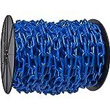 Chain Heavy Duty Plastic Barrier Chain Reel 2-Inch Link Diameter Mr 51106 Blue 100-Foot Length