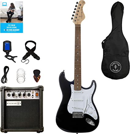 Guitarra eléctrica Stretton Payne ST con amplificador de práctica ...