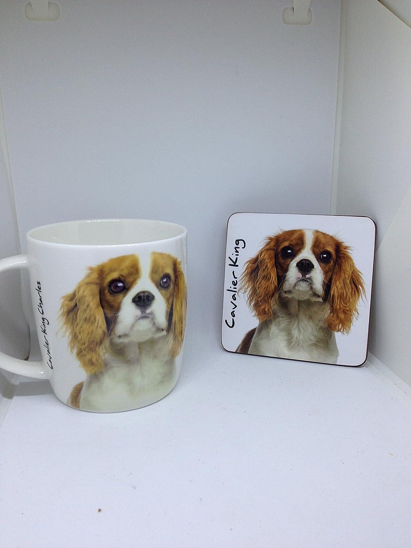 Cavalier King Charles mug and coaster set RCPLTD