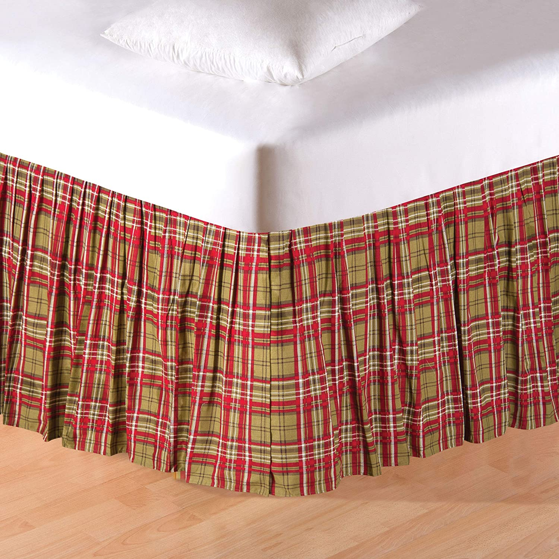 Kellynキルト Queen Bed Skirt グリーン B075H725Q6  Queen Bed Skirt