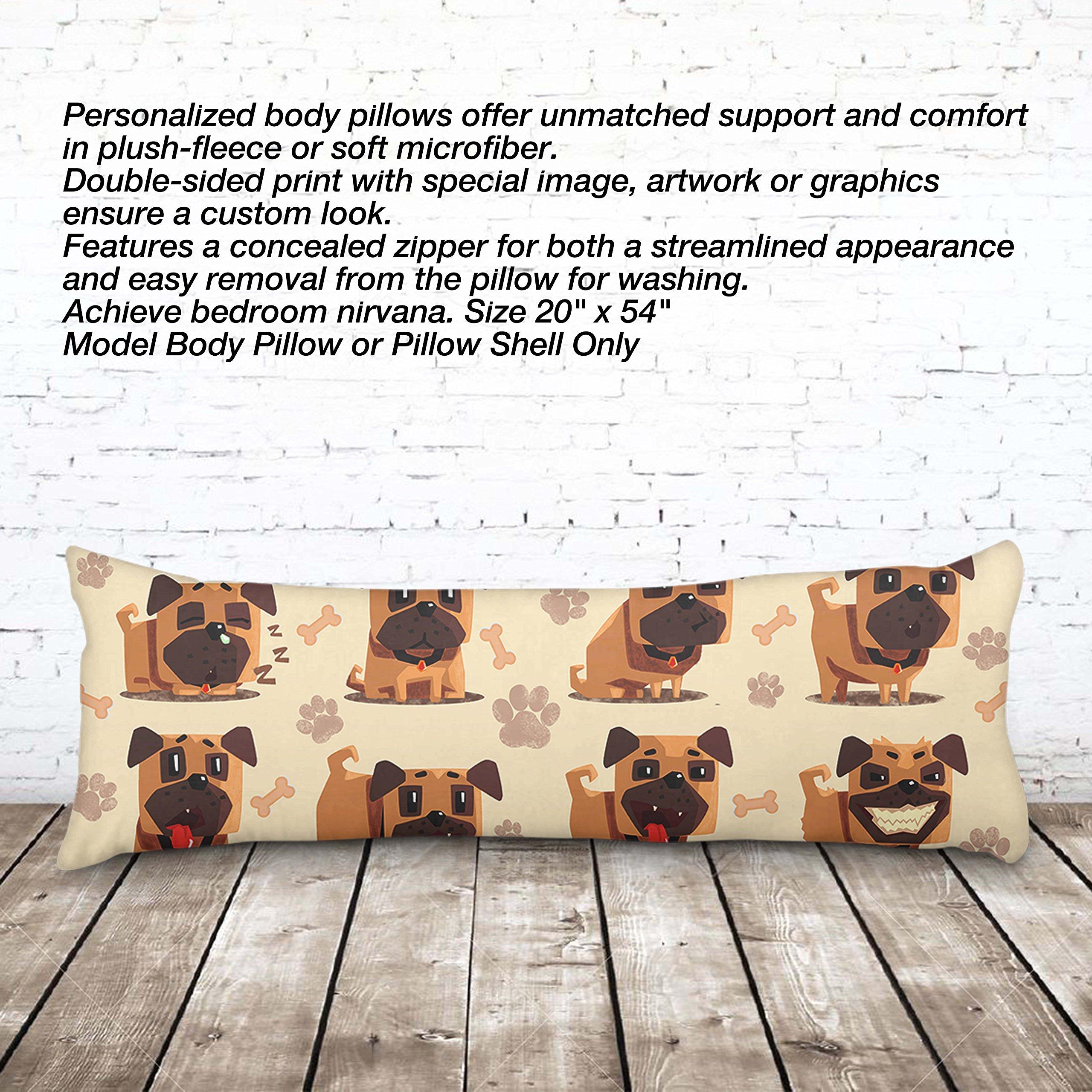 VOTANTA - Bulldog emotions Body Pillow (Body Pillow 100% Polyester, 20x54'')