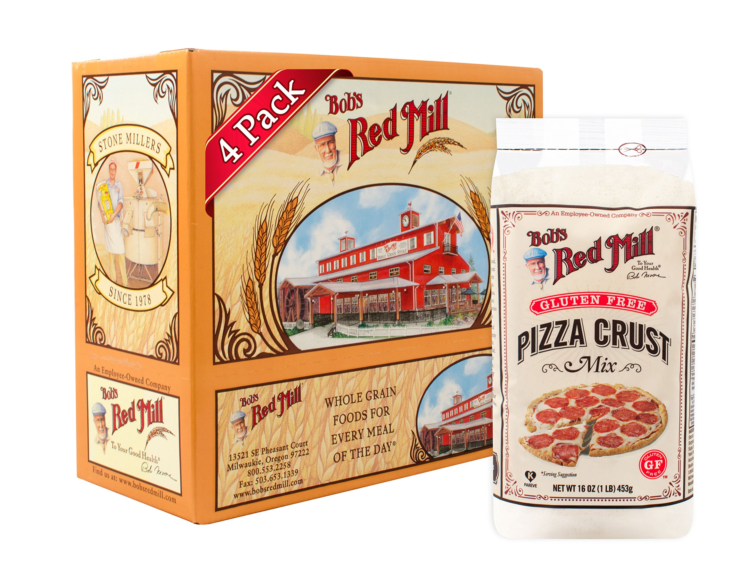 Bob's Red Mill Gluten Free Pizza Crust Mix, 16-ounce (Pack of 4) by Bob's Red Mill