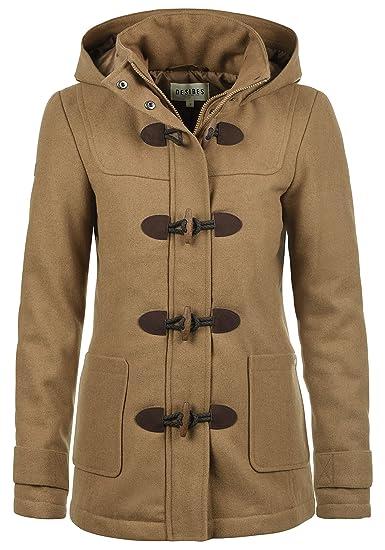 Desires Penna Duffle-Coat Abrigo Chaqueta De Lana Para Mujer Forrado Con Cuello Alto: Amazon.es: Ropa y accesorios