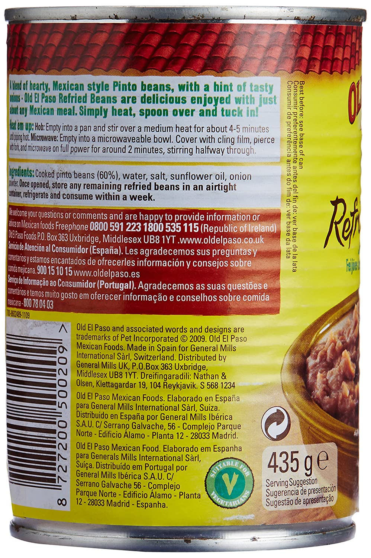 Old El Paso - Lata De Refried Beans 435 g: Amazon.es: Alimentación y bebidas
