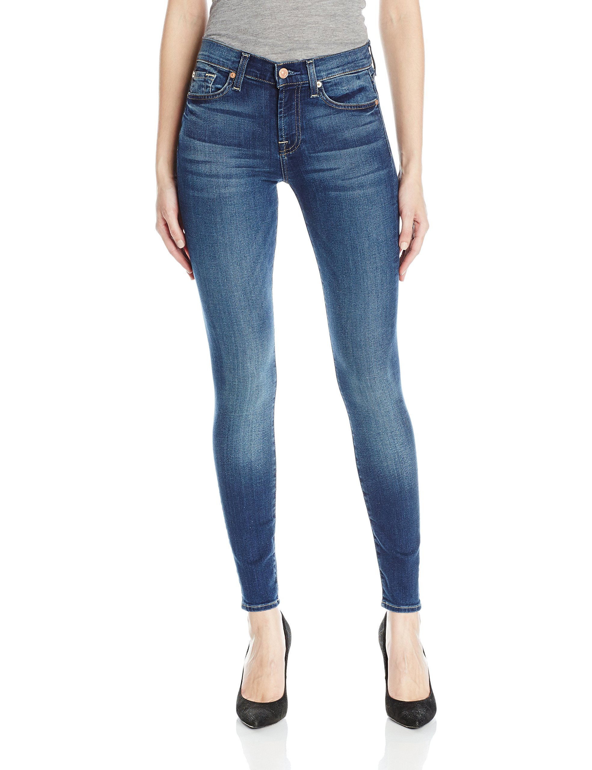 7 For All Mankind Women's The Skinny Jean, Rich Coastal Blue, 28