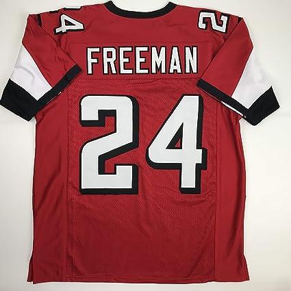 online retailer 6f44d 97572 Amazon.com: Unsigned Devonta Freeman Atlanta Red Custom ...