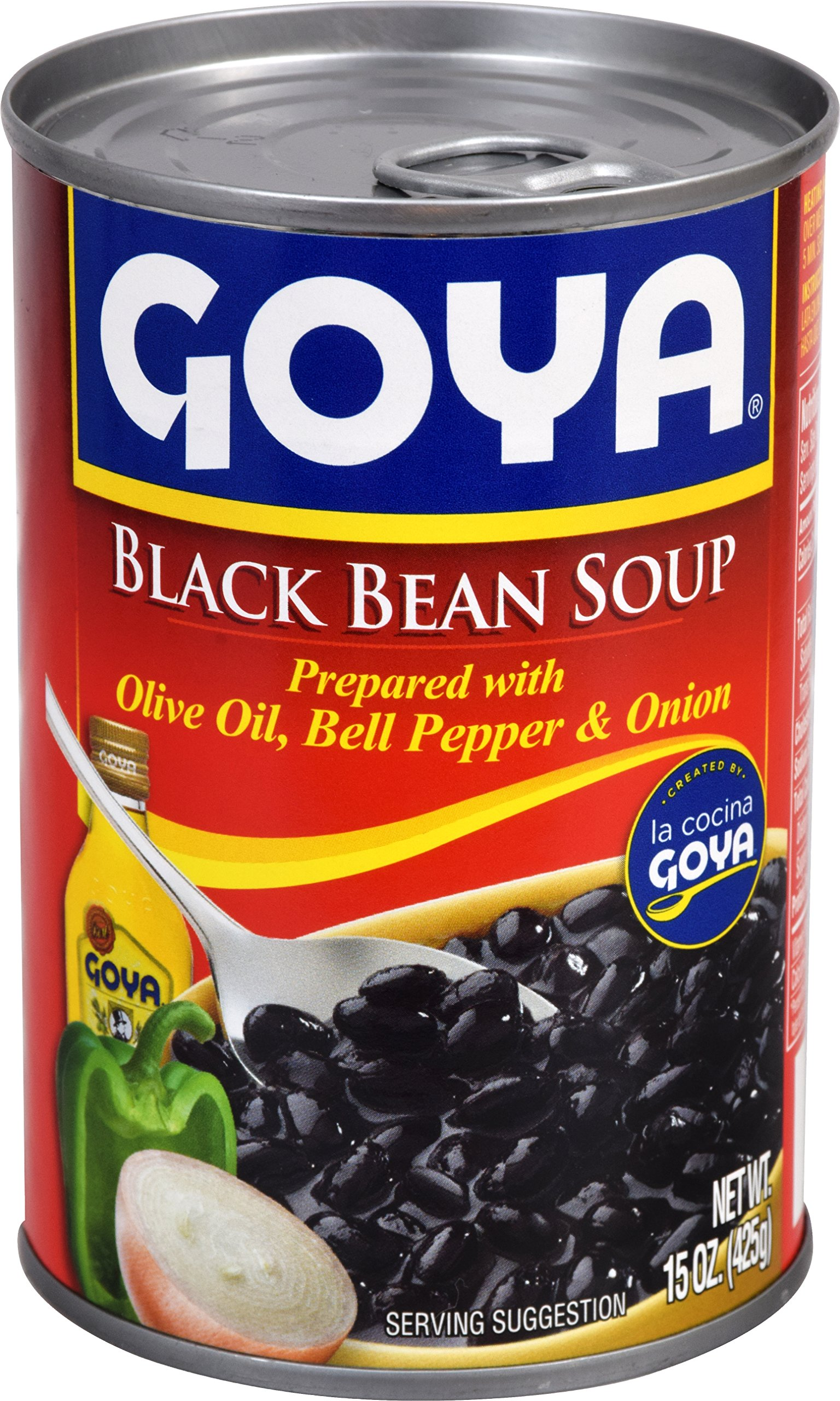 Goya Foods Black Bean Soup, 15-Ounce (Pack of 24) by Goya