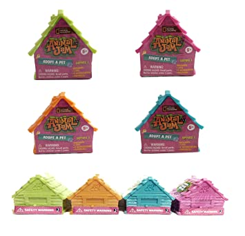 Buy Set Of 4 Animal Jam Adopt A Pet Blind Houses Pink Blue Green Orange Online At Low Prices In India Amazon In