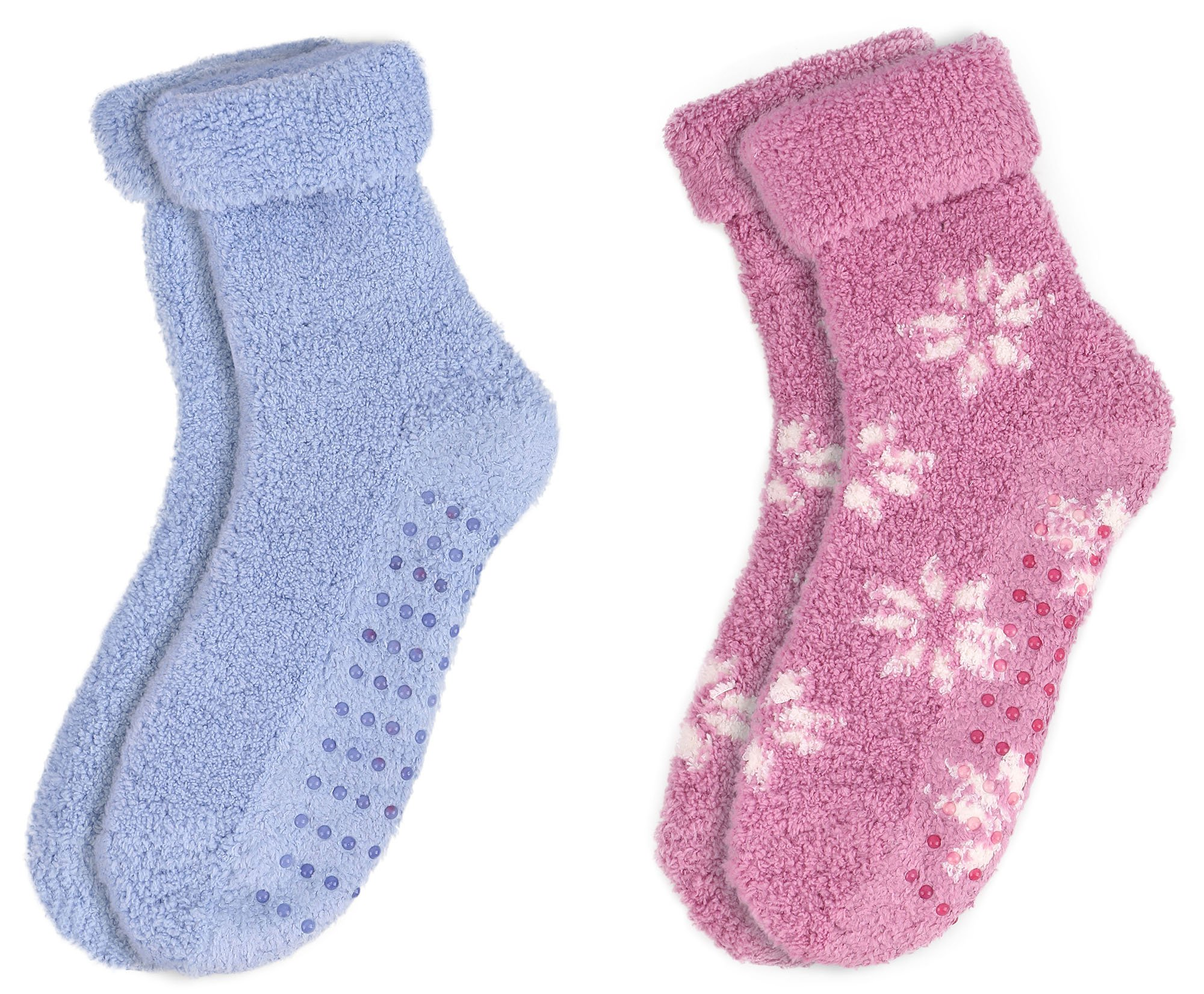 Women's Soft & Furry Thick Non-Slip Winter Ankle Socks,2Pairs_Style 3
