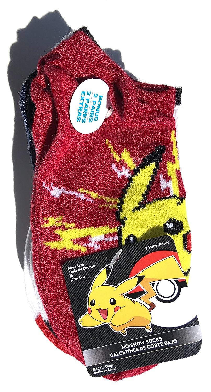 Amazon.com: Pikachu Boys 7pair No Show Sun & Moon Socks (Includes: Rowlet, Litten & Popplio) Medium 7.5-3.5: Clothing