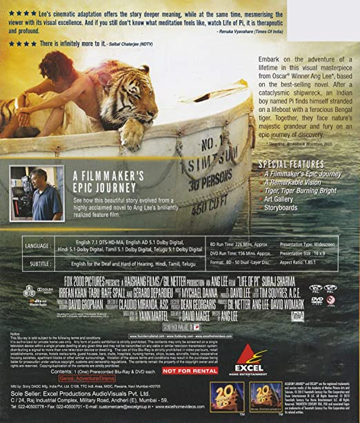 Amazonin Buy Life Of Pi Dvd Blu Ray Online At Best Prices In