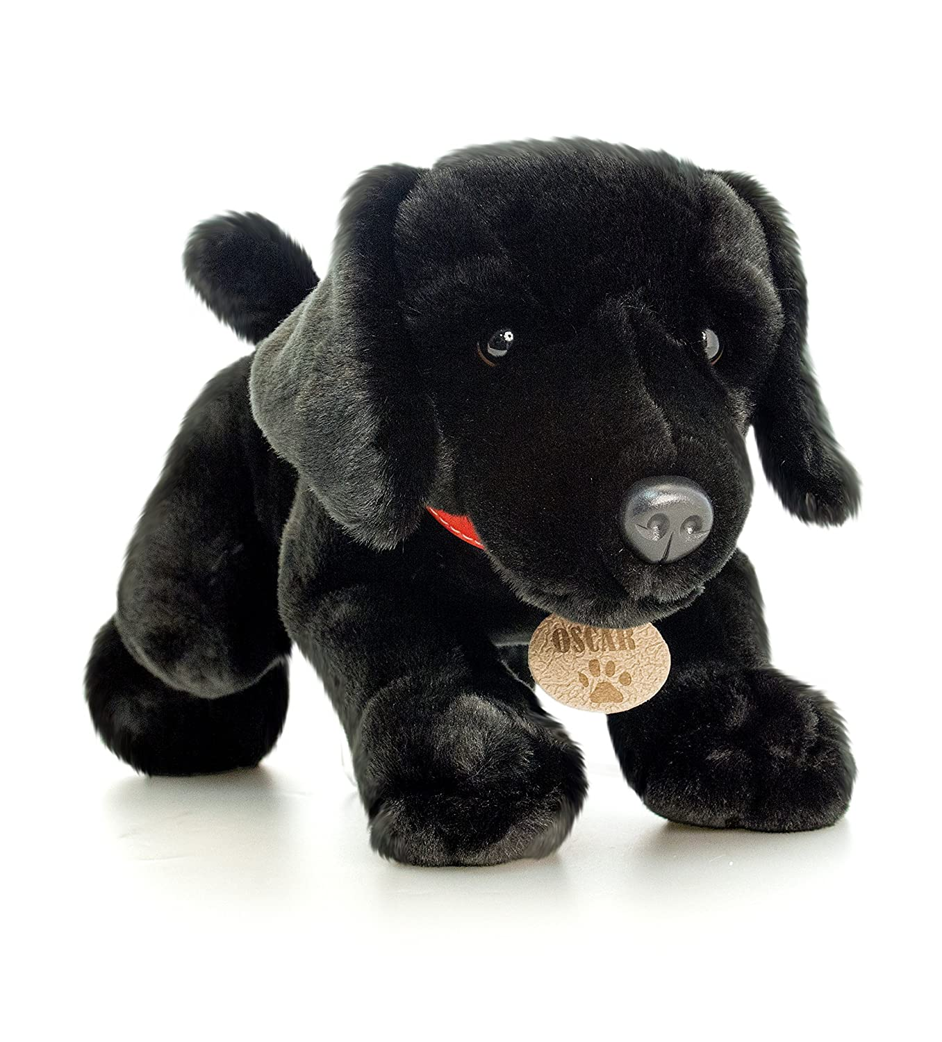 35cm Keel Toys Black Labrador Soft Toy Dog OSCAR EXCLUSIVE TO