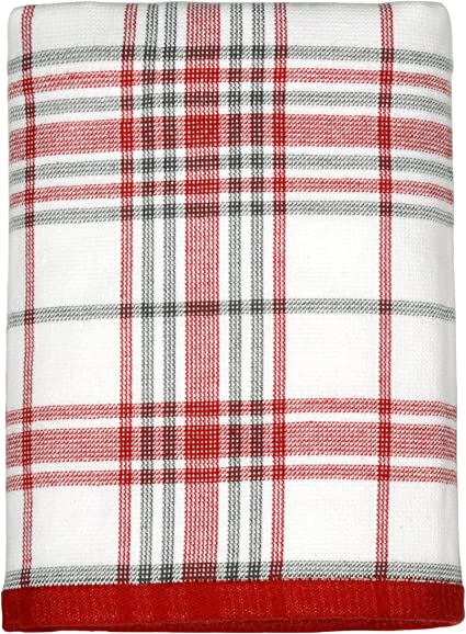 Peri Home Classic Plaid Holiday 100/% Cotton Hand Towel Red 15 x 26 CHF Industries 3T91190HRD 15 x 26