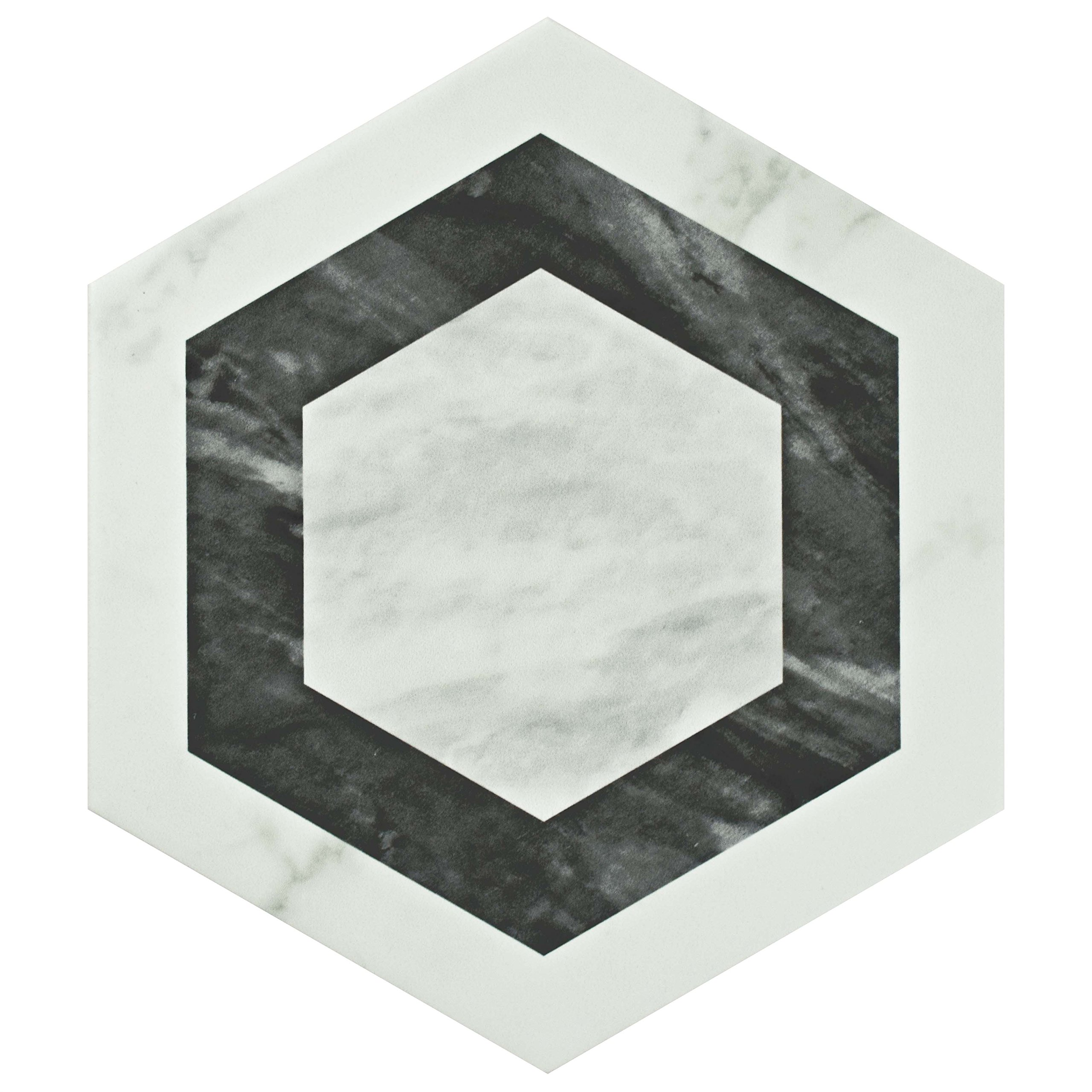 SomerTile FEQ8BXG Murmur Bardiglio Hexagon Porcelain Floor and Wall Tile, 7'' x 8'', Geo by SOMERTILE (Image #2)