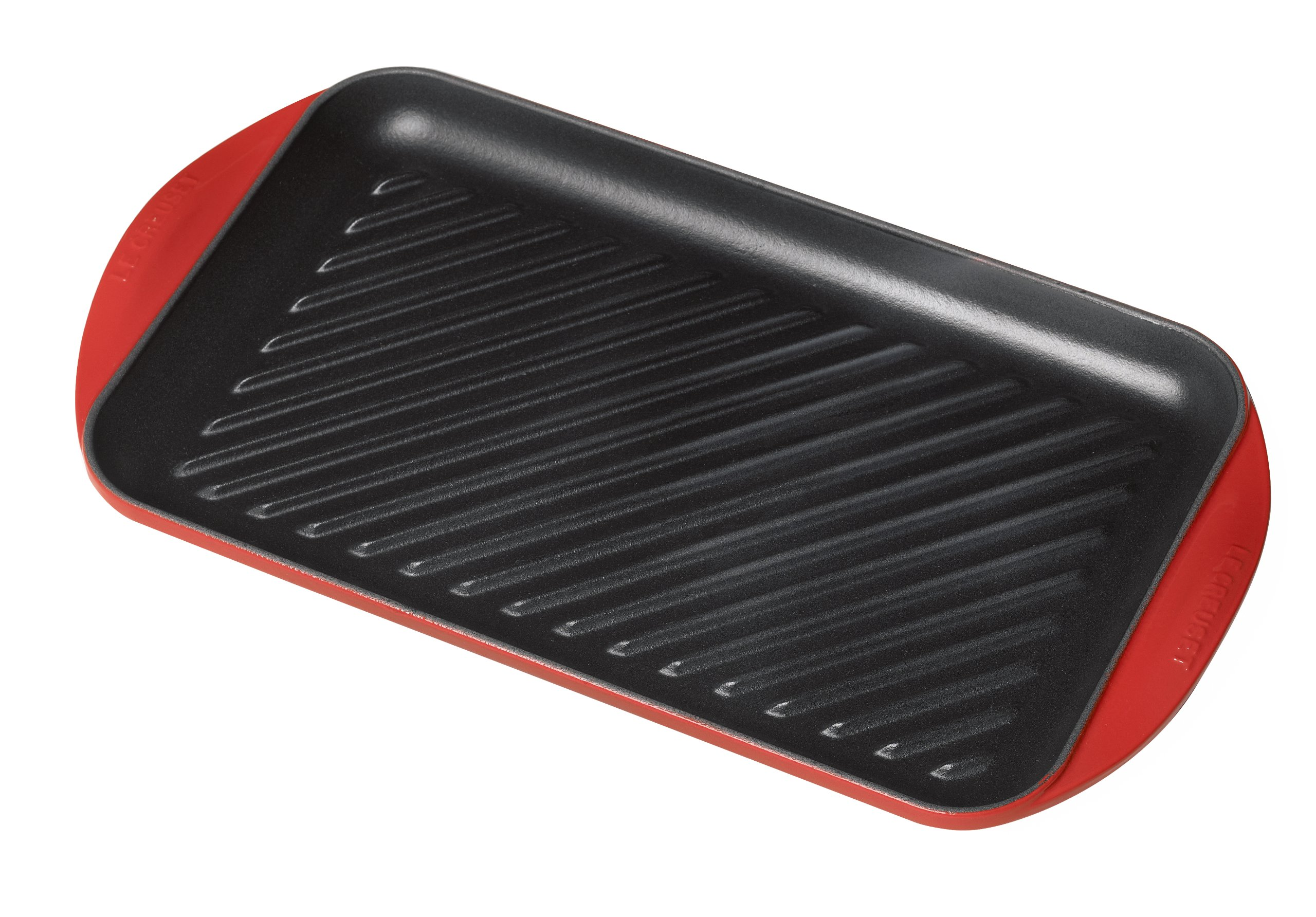 Le Creuset of America L2032-4067 Enameled Cast Iron Double Burner Grill, 15 3/4'' x 9'' x 1''/X-Large, Cherry
