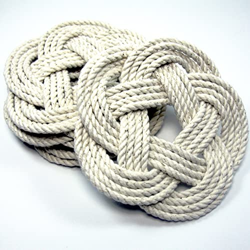 Nautical Sailor Knot Coasters - Set of 4