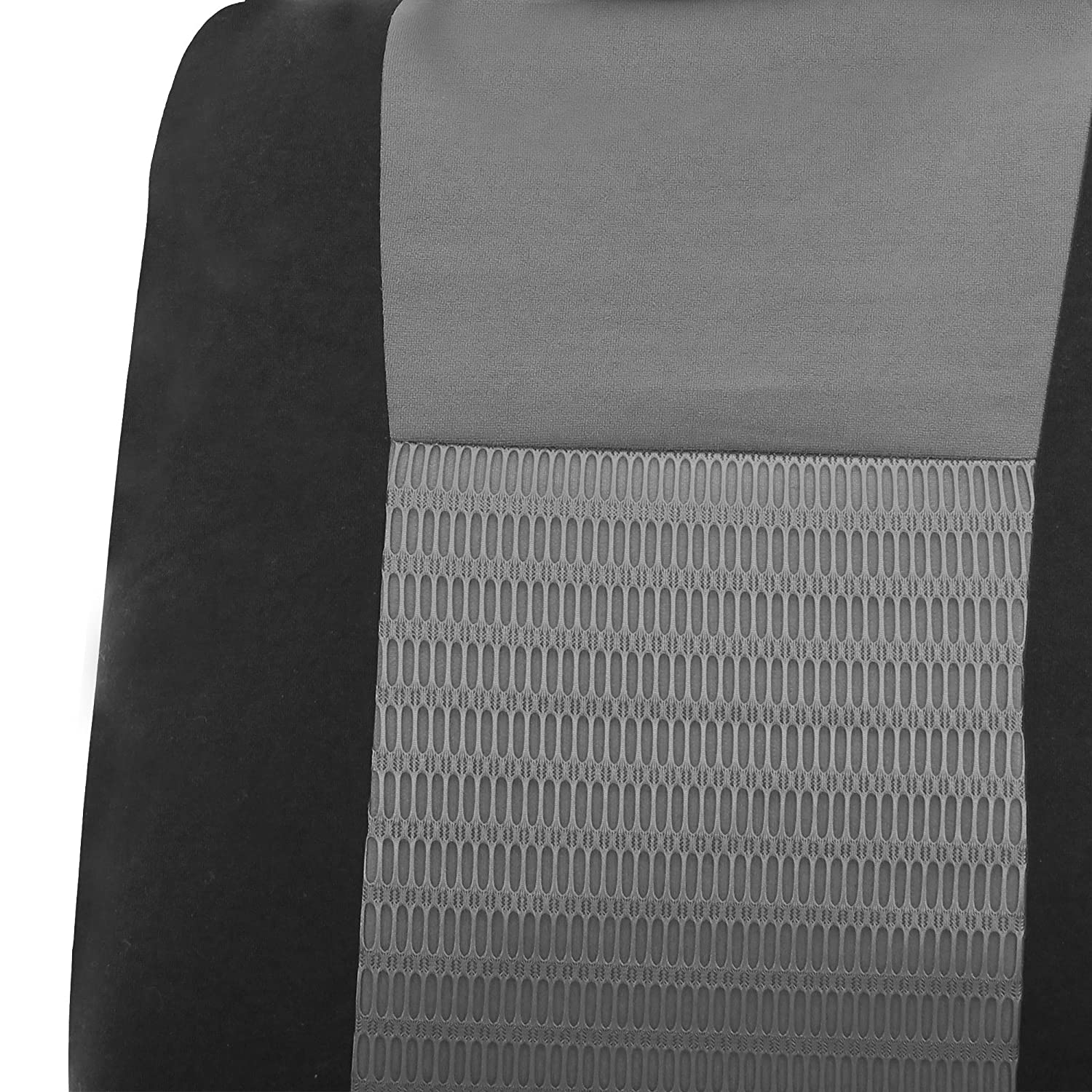 Airbag compatible and Split Bench FH-FB060114 Trendy Elegance Car Seat Covers Blue Black color FH GROUP