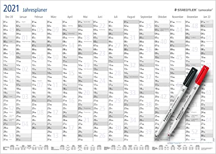 Staedtler   Planner annuale Lumocolor Set 2021 (calendario da
